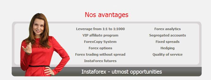 avantages instaforex